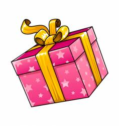 Holiday gift present isolated vector