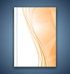Bright orange crystal folder design vector