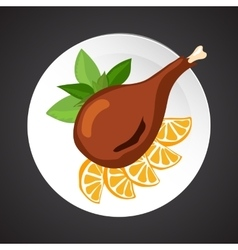 Turkey shin vector image