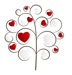 Beautuful Heart Tree vector image