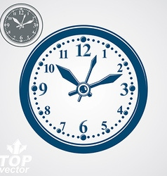 Simple wall clock with stylized clockwise vector
