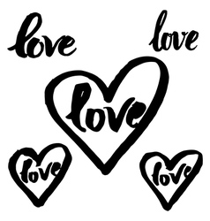 Calligraphy love 3 vector