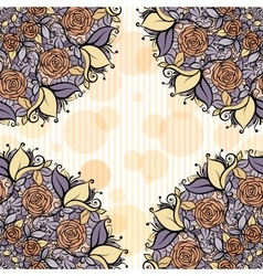 Beige and lavender mandala subtle striped seamless vector