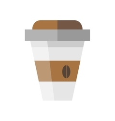 Disposable coffee cup icon in flat style vector