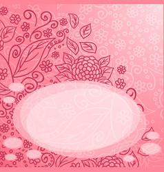 Abstract floral pattern romantic vector
