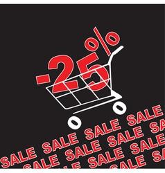 Big sale 25 percentage discount vector