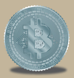 Bitcoin light blue vector