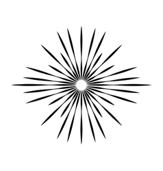 burst frame isolated background vector image