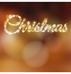 Christmas background with glitter lights vector