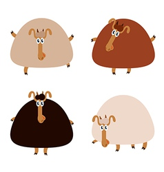 Collection of sheep vector image vector image