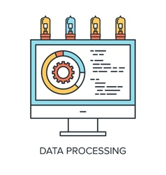 Data Processing vector image vector image