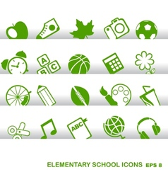 Education Icons basics elementary school vector image vector image