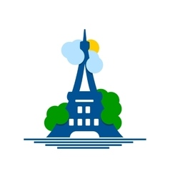 Eiffel Tower logo vector image