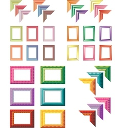 elegant and colorful art frames vector image vector image