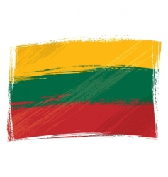 grunge Lithuania flag vector image vector image