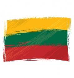 Grunge lithuania flag vector