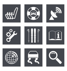 Icons for Web Design set 39 vector image vector image