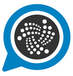 Iota message cloud flat icon vector