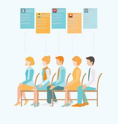 Job recruitment flat banner vector