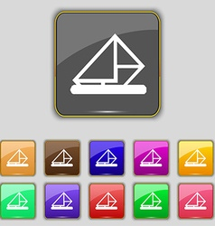 letter envelope mail icon sign Set with eleven vector image