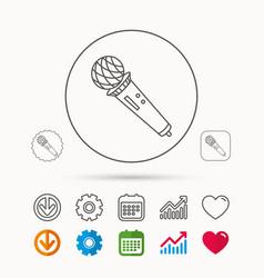Microphone icon karaoke sign vector