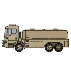 Military tank truck vector