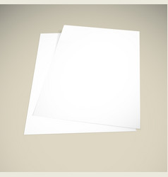 paper on a beige background mock up vector image vector image