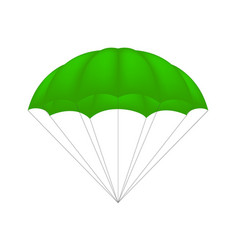 parachute in green design vector image vector image