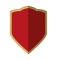 Red shield protection emblem premium shadow vector