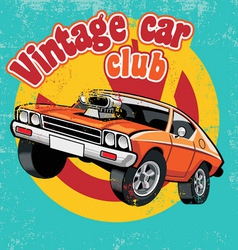 Retro car club vector