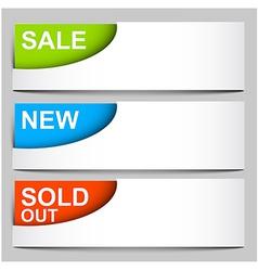 Sale sold new - corner icons vector