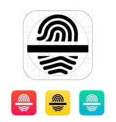Scanning finger icon vector image