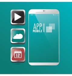 Smartphone and apps icon set design vector image