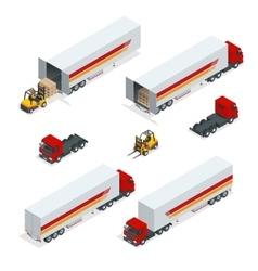 Trucks isometric transport commercial vector