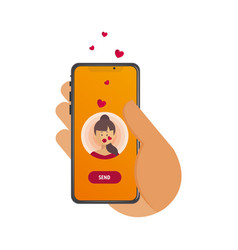 Valentines day send or receive love vector