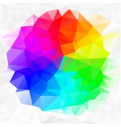 Irregular polygon background color spectrum vector