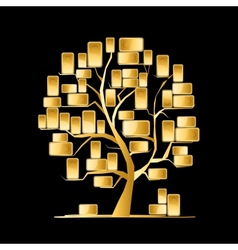 Golden tree concept for your design vector image