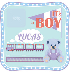 Template for a newborn boy vector