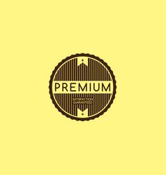 Premium quality and guarantee product label and vector