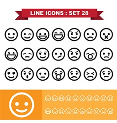 Line icons set 28 vector