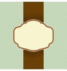 vintage card design vector image