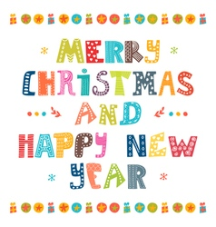 Merry christmas and happy new year card card vector