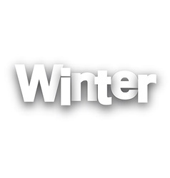 Winter paper sign vector