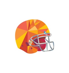 American football helmet low polygon vector