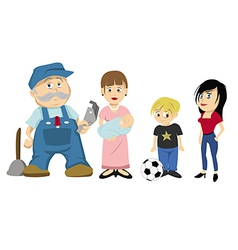 family characters vector image