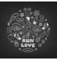 Love run man vector