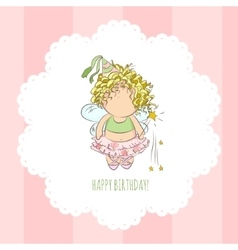 a fairy with magic stick vector image