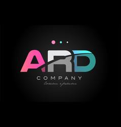 Ard a r d three letter logo icon design vector