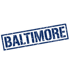 Baltimore blue square stamp vector