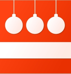 Christmas ball background with place for text vector image vector image